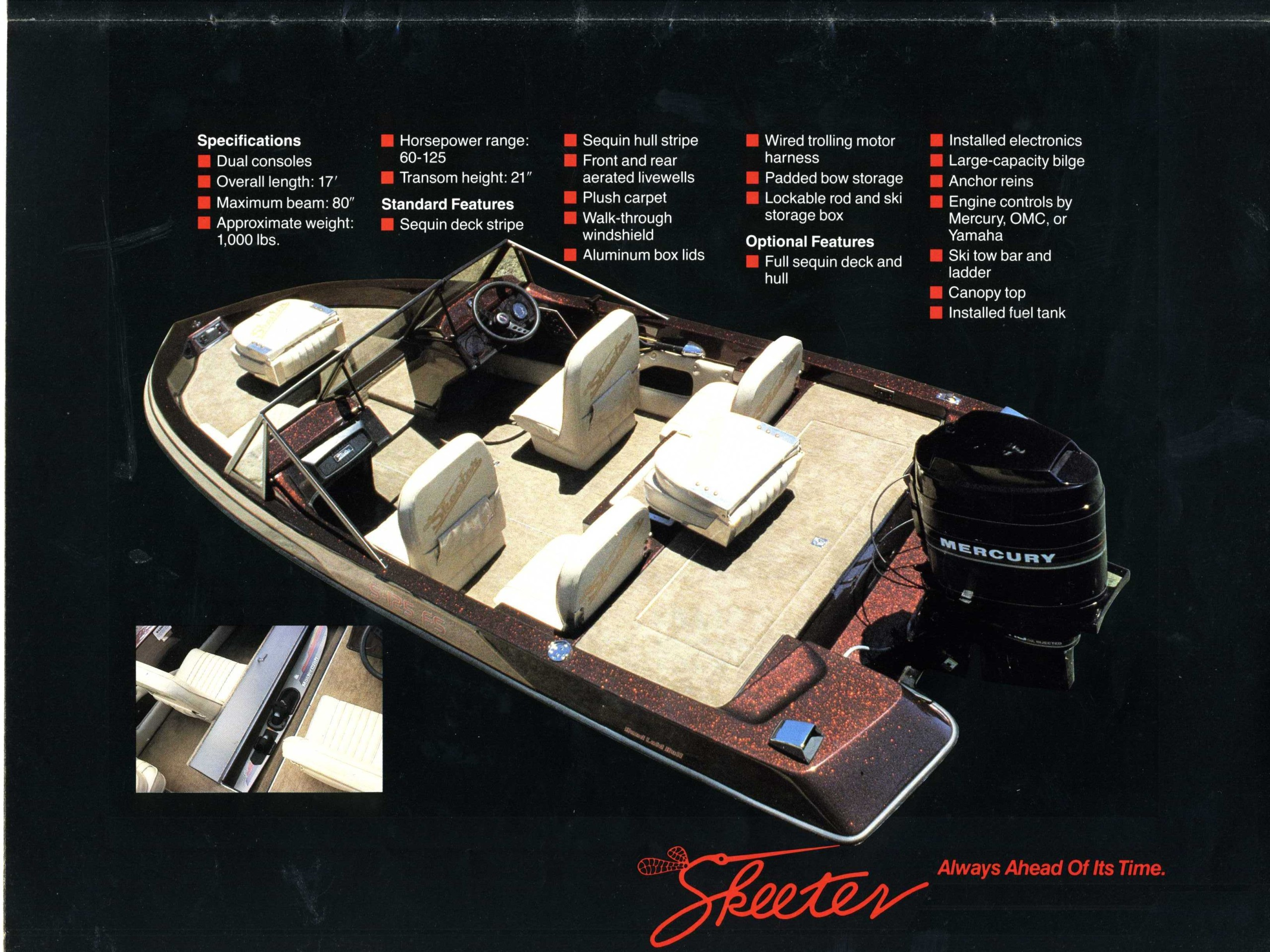 1987 Skeeter Boats Brochure Boat Tow Harness This Provided By