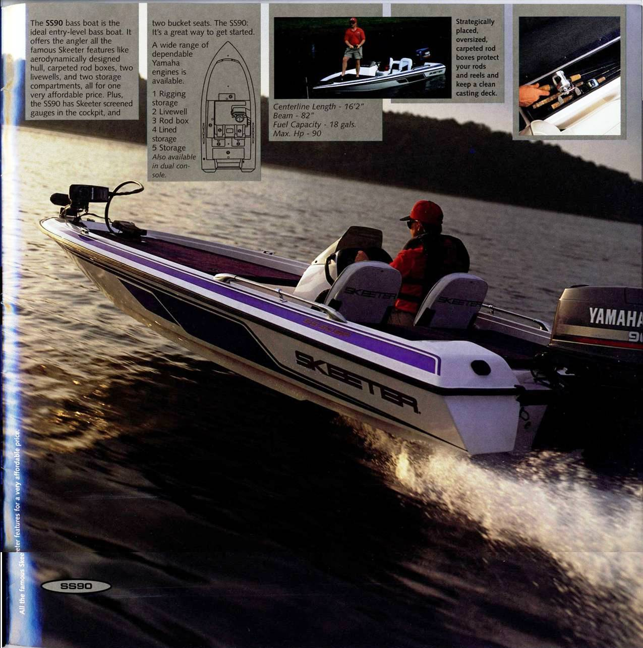 1998 Skeeter Brochure Ss90 Wiring Diagram Click To Return